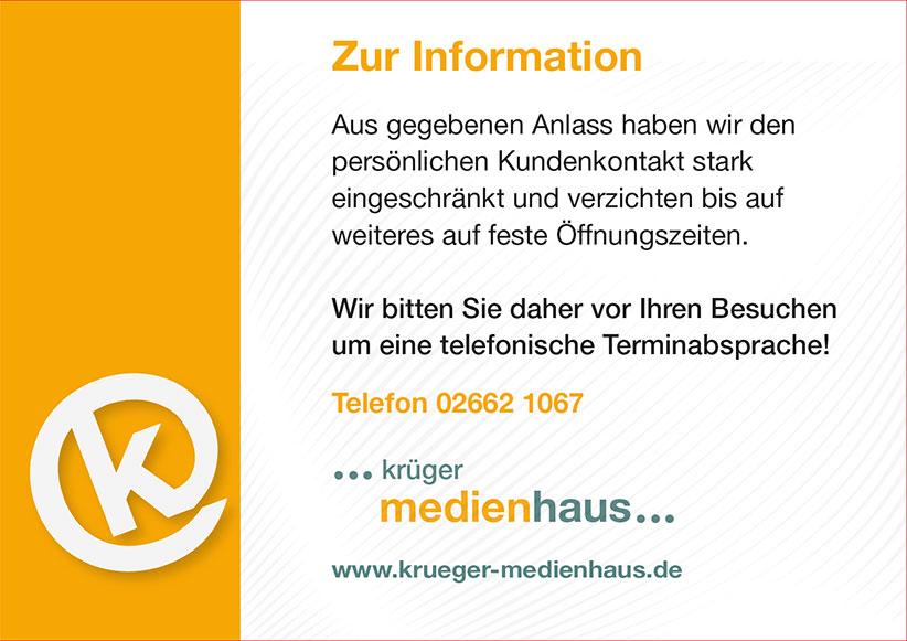 Oeffnungszeiten Krueger Medienhaus